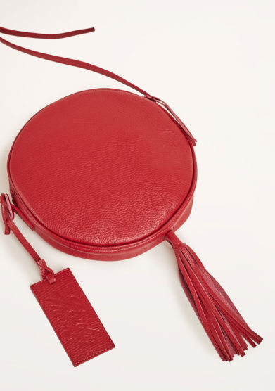 FUNKY MAMA - Pearl red leather bag