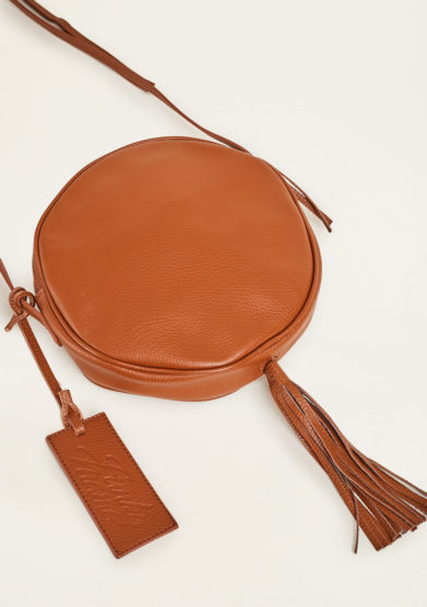 FUNKY MAMA - Pearl caramel leather bag