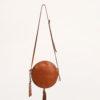 FUNKY MAMA - Pearl caramel leather bag