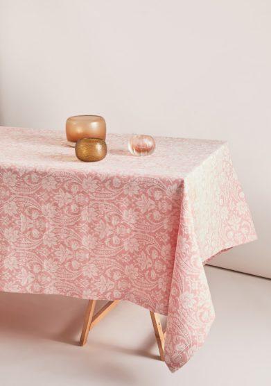 BUSATTI - Pink salmon Donna di Coppe tablecloth
