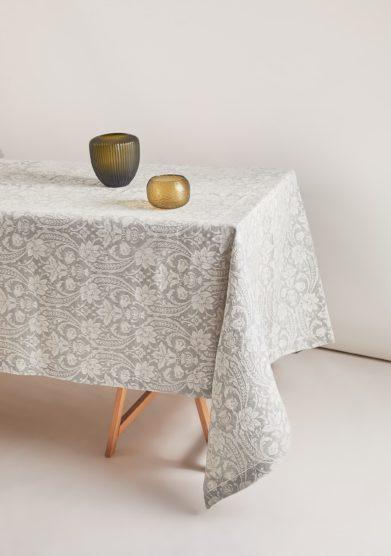 BUSATTI - Anthracite grey Donna di Coppe tablecloth