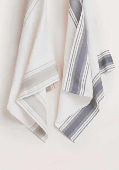 BUSATTI - Dark and light grey Due Fragole kitchen towel set