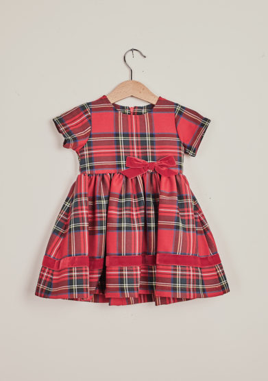 BARONI - Red tartan dress