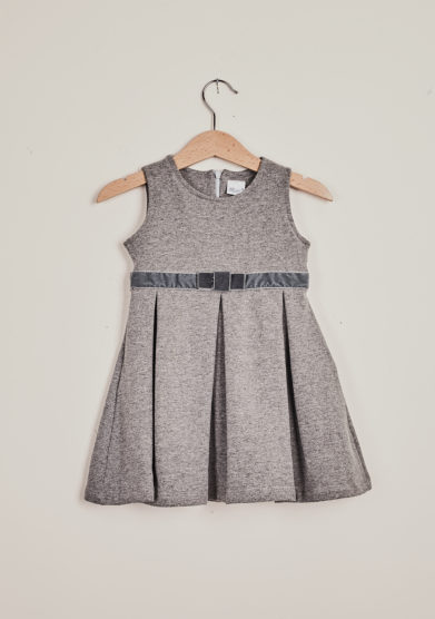 BARONI - Grey jersey sleeveless dress