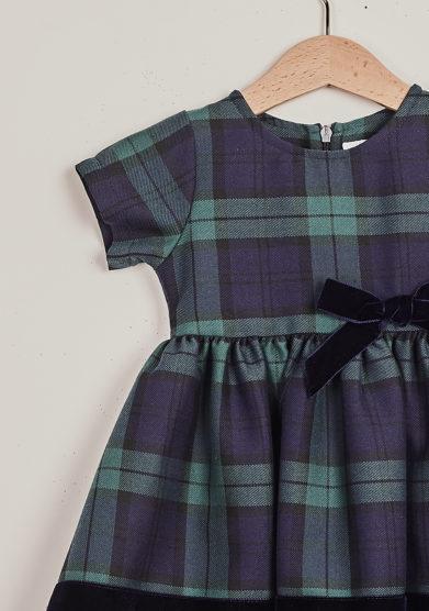 BARONI - Blue tartan dress