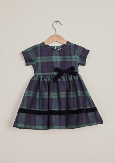 BARONI - Blue tartan dress