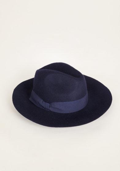 TABARRO SAN MARCO - Venetian fedora hat in blue felt wool