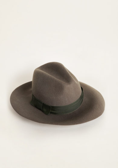 TABARRO SAN MARCO - Venetian fedora hat in military green felt wool