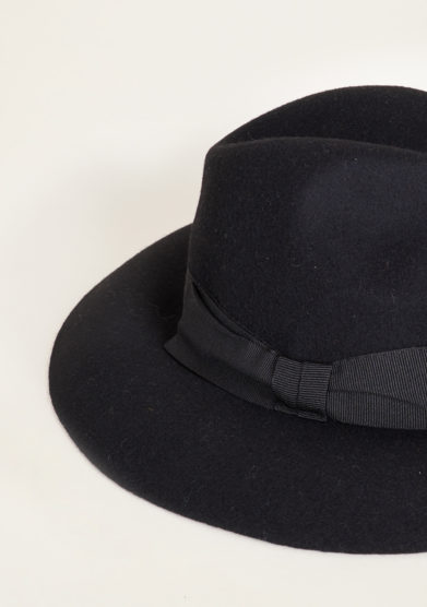 TABARRO SAN MARCO - Venetian fedora hat in black felt wool