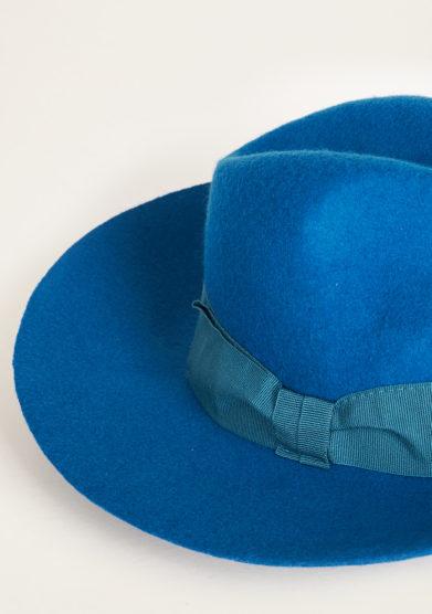 TABARRO SAN MARCO - Venetian fedora hat in petrol felt wool