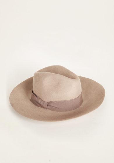 TABARRO SAN MARCO - Venetian fedora hat in beige felt wool