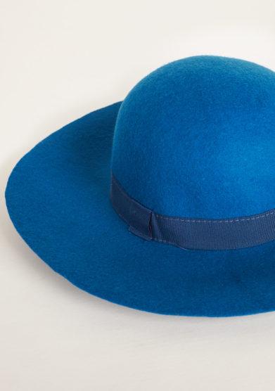 TABARRO SAN MARCO - Venetian cappellina hat in petrol felt wool