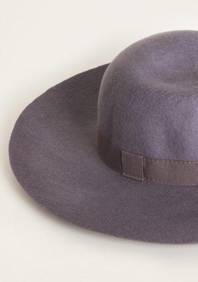 TABARRO SAN MARCO - Venetian cappellina hat in grey felt wool