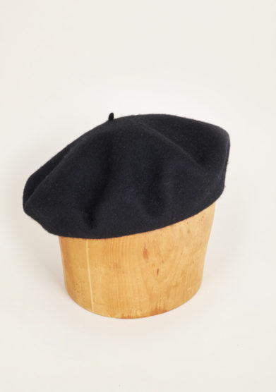 TABARRO SAN MARCO - Basque hat in black felt wool