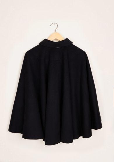 TABARRO SAN MARCO - Black wool Tabarro for children