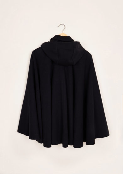 TABARRO SAN MARCO - Black wool Tabarro for children with hood