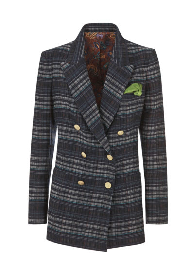 NASCO UNICO - Double-breasted wool checked blazer