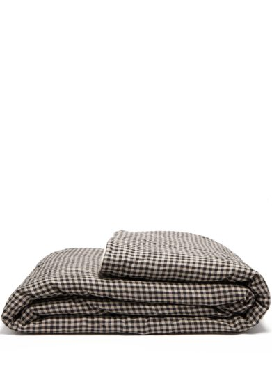 ONCE MILANO - Checked Linen Blanket