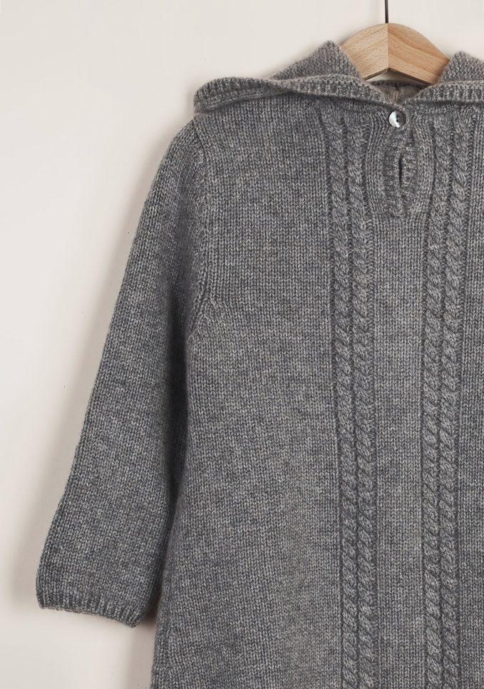 FAGIOLINO CASHMERE - Grey Piccino cashmere Burnou