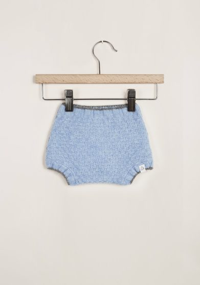 FAGIOLINO CASHMERE - Light blue Patatino cashmere short