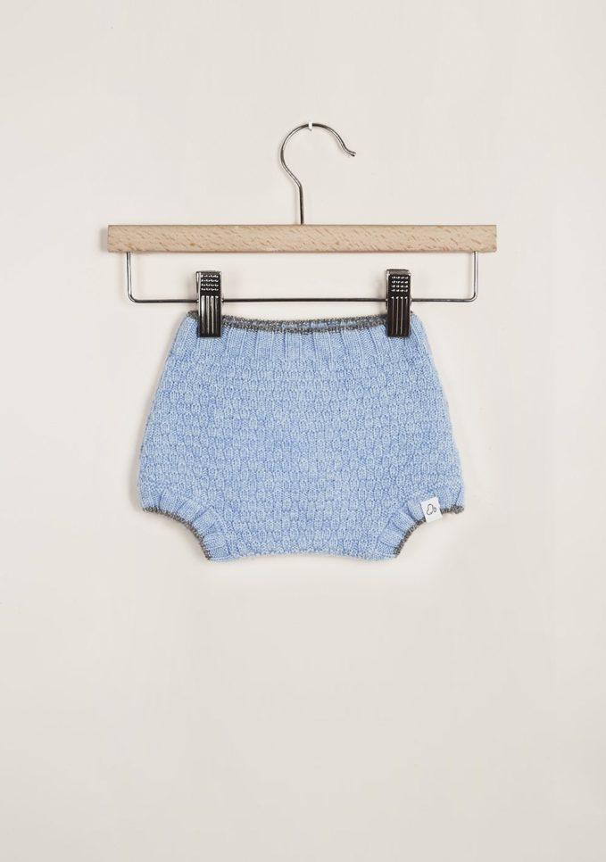 FAGIOLINO CASHMERE - Light blue Patatino cashmere short