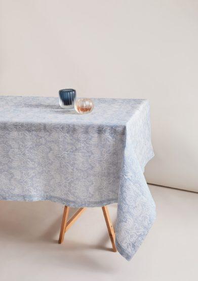 BUSATTI - Light blue Giglio tablecloth