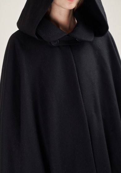 TABARRO SAN MARCO - Black wool Tabarro