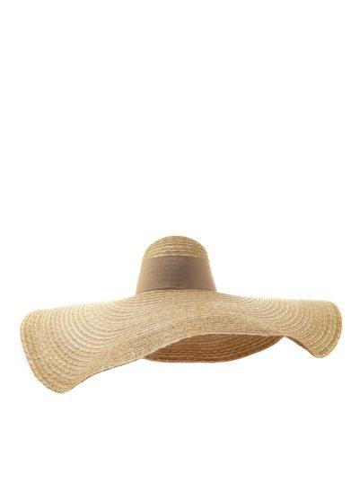 Ely b hats cappello beige maxi