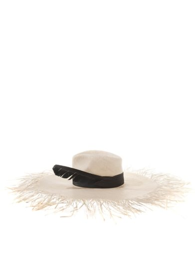 ely b hats cappello parasol bianco paglia