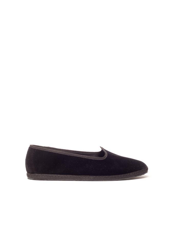 Vibi venezia scarpe basse furlane nere velluto