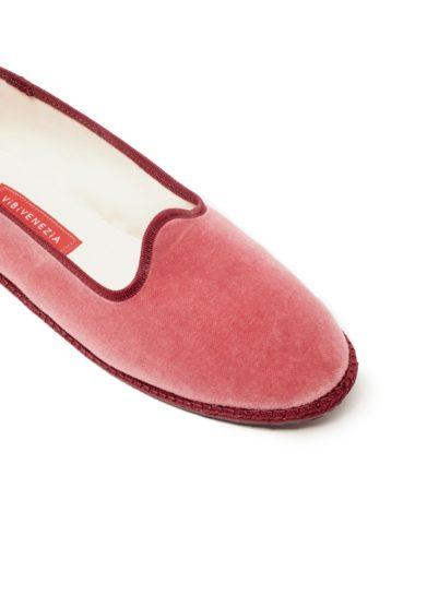 Scarpe basse furlane velluto rosa vibi venezia