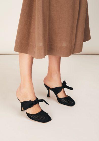 Sabot neri kendall con fiocco gia couture