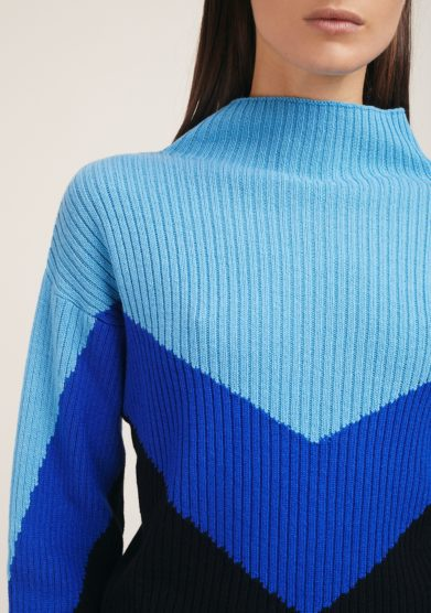 Irreplaceable elisa giordano maglia lana e cashmere tricolor