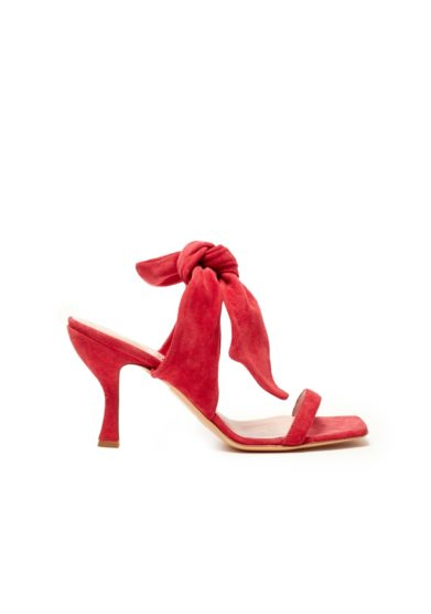 Gia couture sabot open toe rossi con tacco