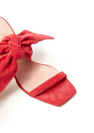 Sabot gia couture brigitte rossi in suede con fiocco