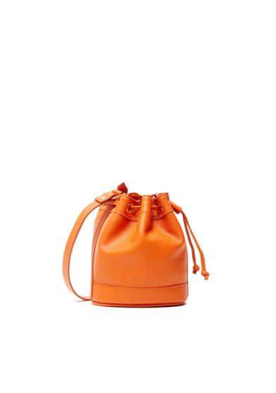 Secchiello amira bags pelle arancione mini