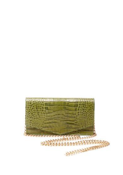 Mini borsa a tracolla amma verde