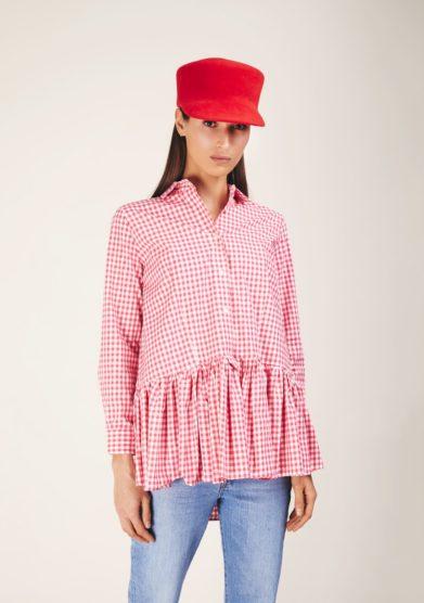 Anperfect cappello con tesa in feltro rosso