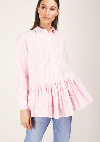 Cris thin camicia balza rosa vichy