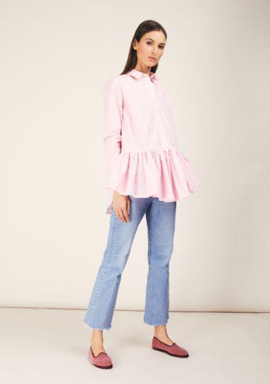 Camicia rosa vichy balza cris thin