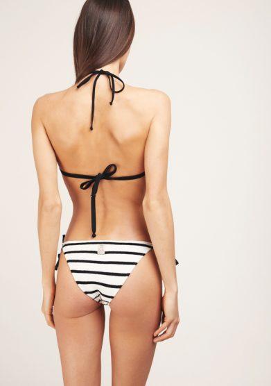 feel me fab bikini bianco e nero a righe