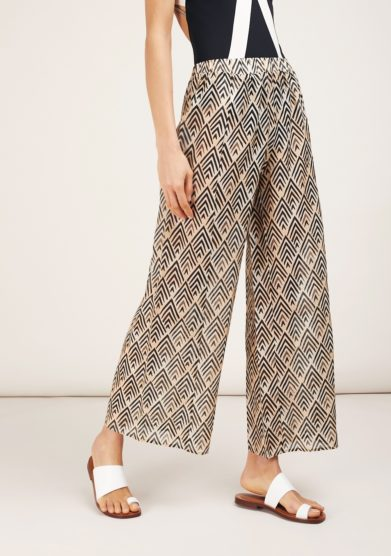 Pantalone largo fantasia geometrica feel me fab