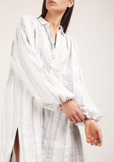 Camicia manica ampia righe grigio los trapitos al sol