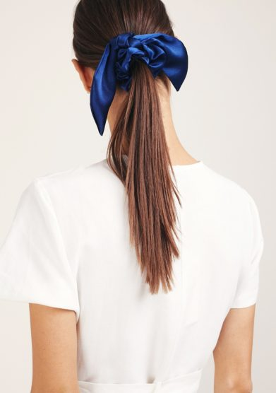 Marzoline scrunchies seta blu