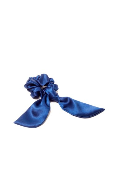 Scrunchies marzoline seta blu
