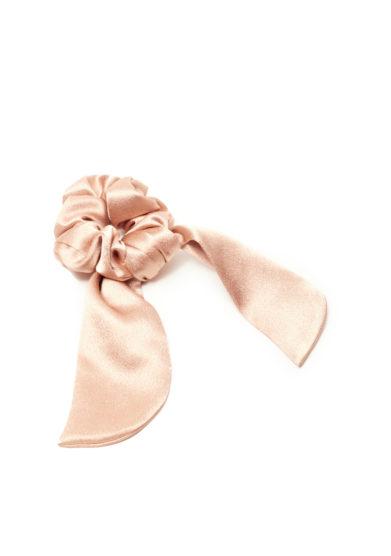 Marzoline elastico per capelli seta rosa cipria