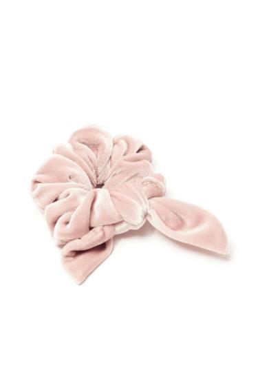 Scrunchies piccolo velluto rosa cipria marzoline