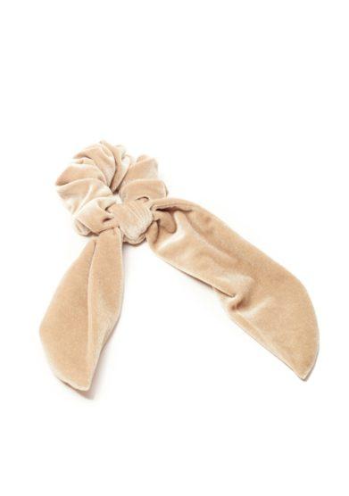 Scrunchies velluto beige marzoline