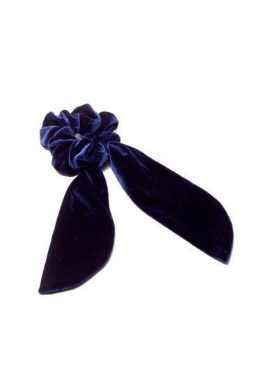 Marzoline scrunchies velluto blu