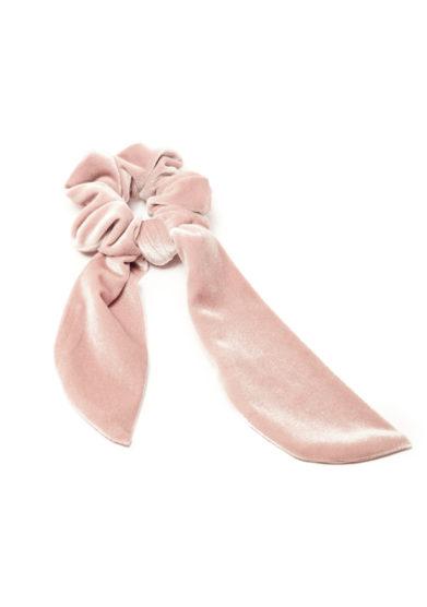 Elastico per capelli velluto rosa marzoline